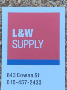L&W Supply Nashville, Tennessee North Building Sign