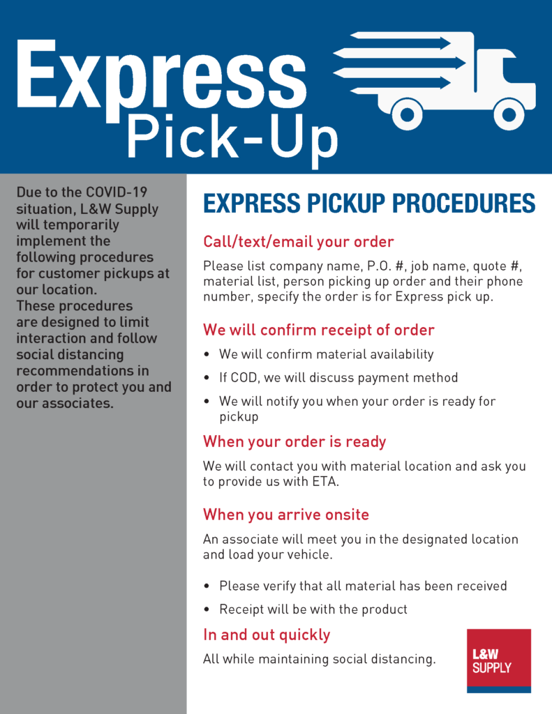 Express Pick-Up Flyer